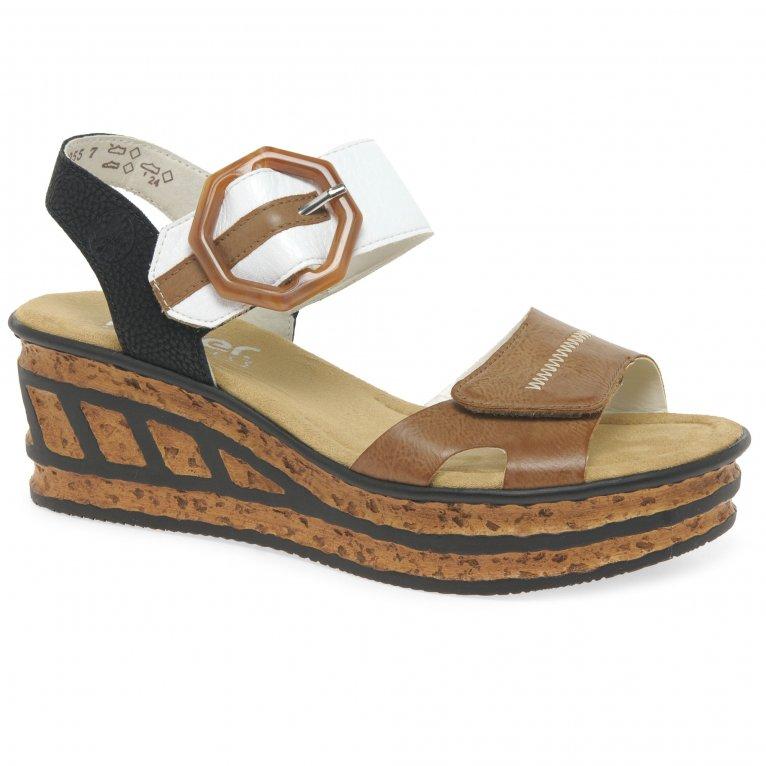 Rieker Gift Womens Wedge Heel Sandals