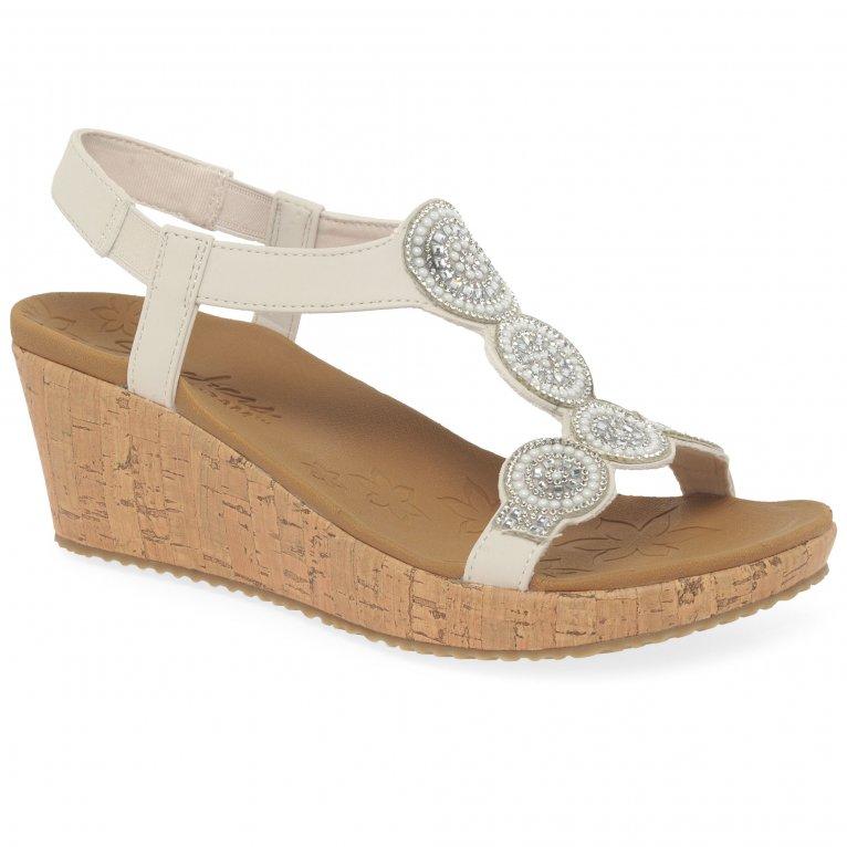 Skechers Beverlee Date Glam Womens Wedge Heel Sandals