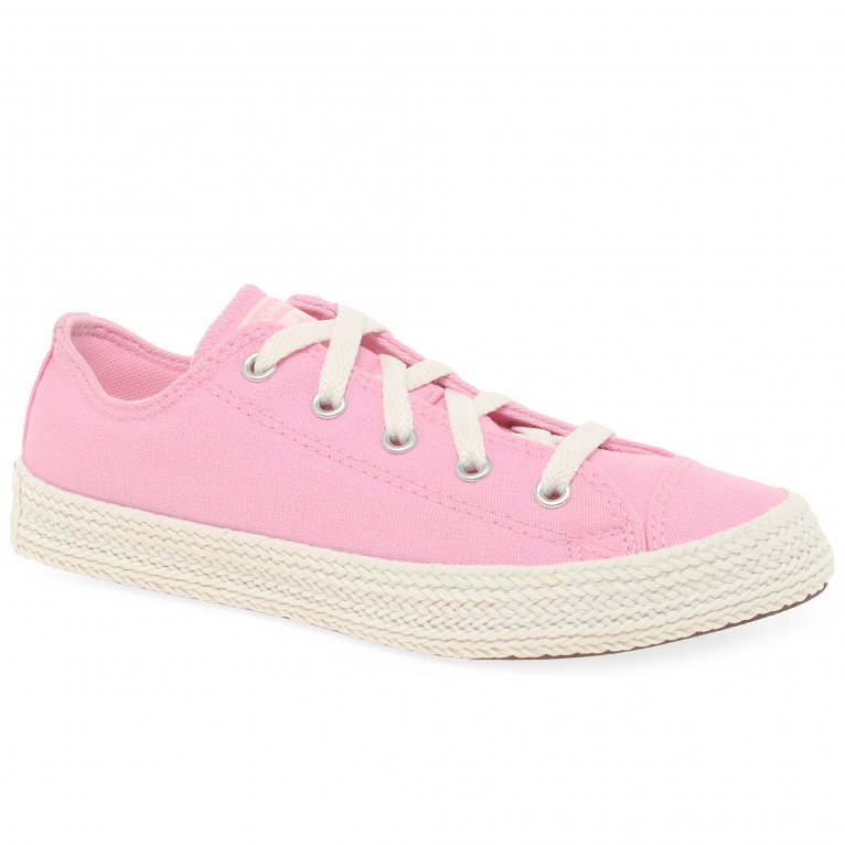 Converse All Star Espadrille Girls Canvas Trainers