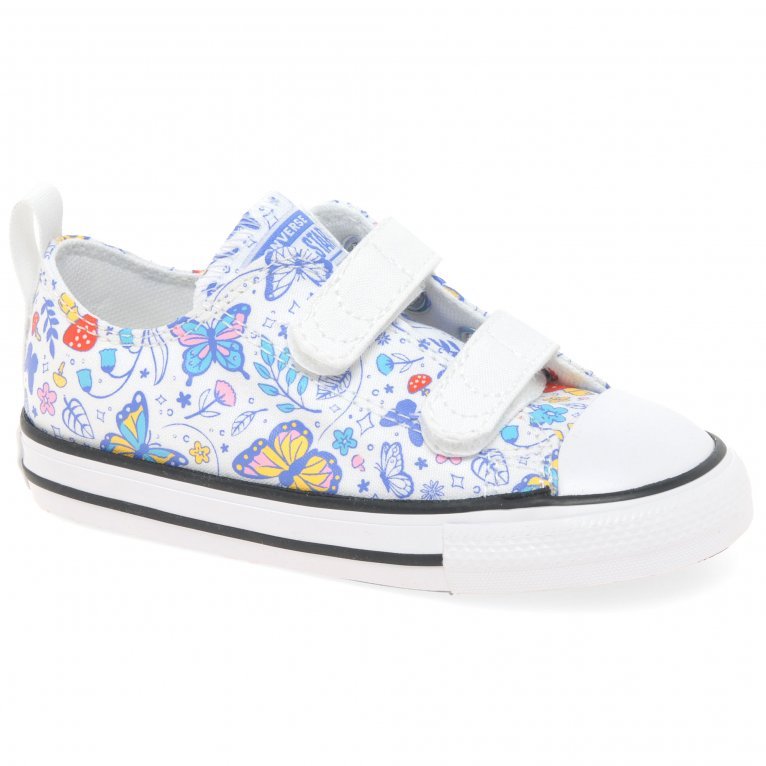 Converse Oxford 2V Butterfly Fun Girls Infant Canvas Shoes