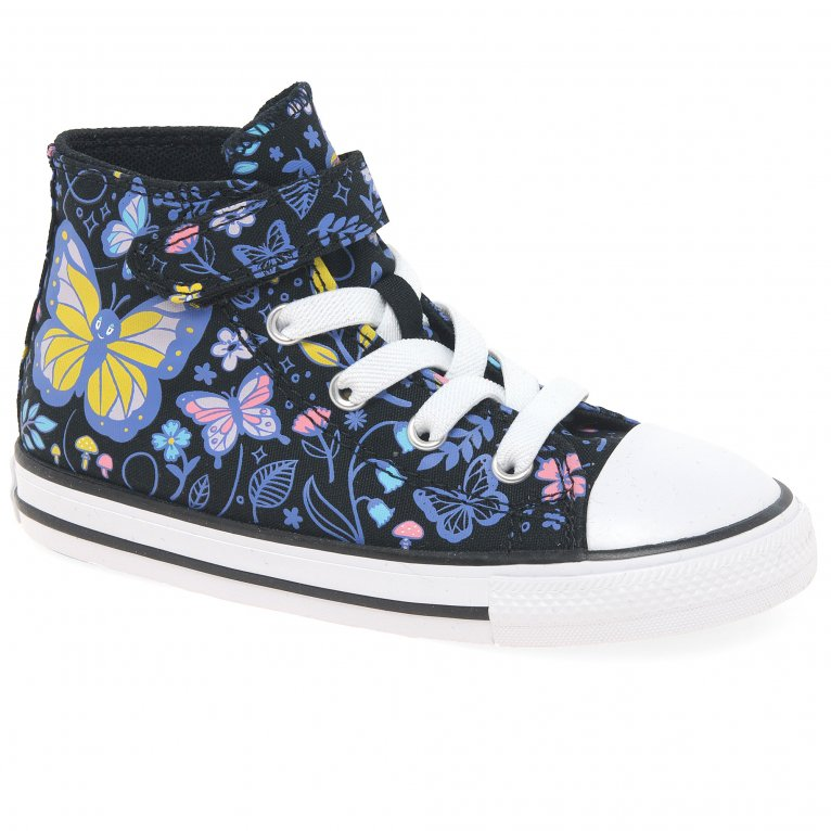 Converse All Star Hi Girls Infant Butterfly Forest Canvas Boots