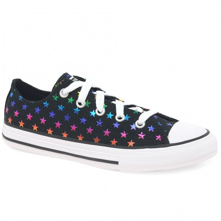 Converse All Star Lace Oxford Foil Star Girls Canvas Shoes