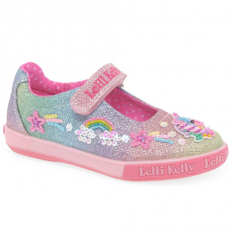 Lelli Kelly Treasure Dolly Unicorn Girls Infant Canvas Shoes