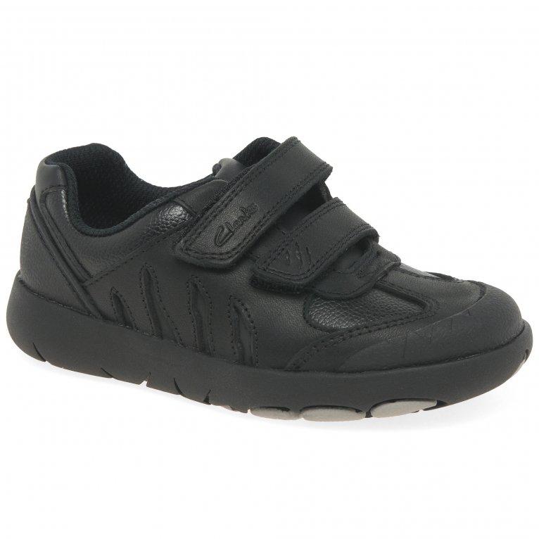 Clarks Rex Stride T Boys Infant School Shoes