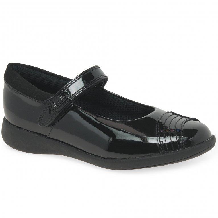 Clarks Etch Beam K Girls School Shoes