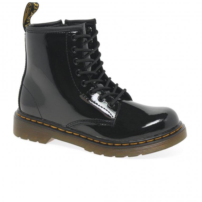 Dr. Martens Delaney Kids Black Patent Boots