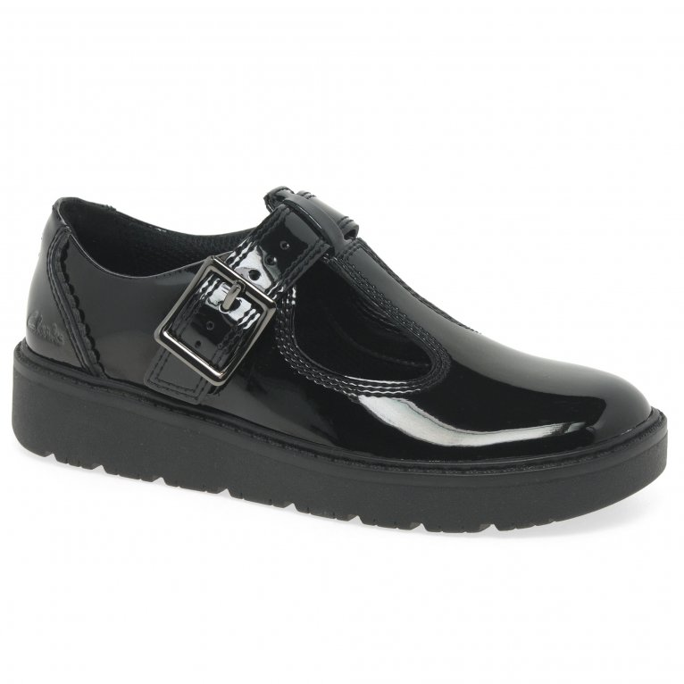 Clarks Plain Move K Girls School Shoes