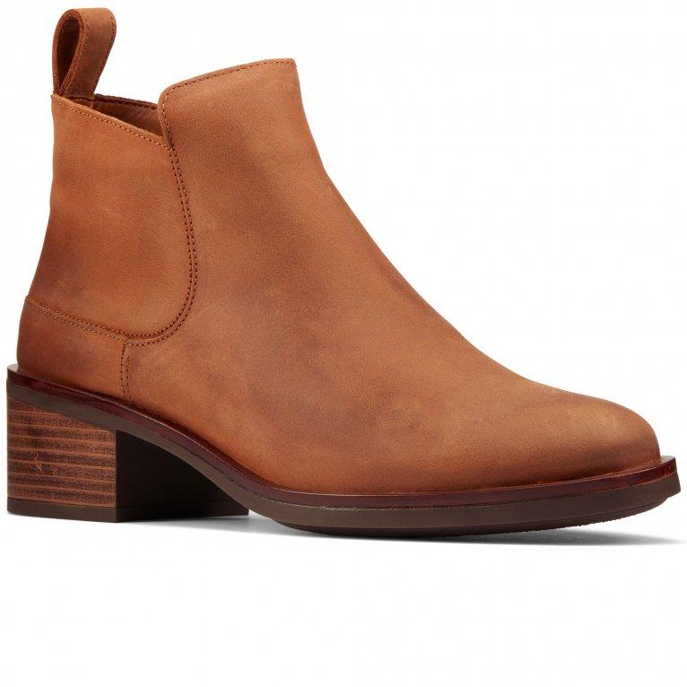 Clarks Memi Zip Womens Wide Fit Chukka Boots