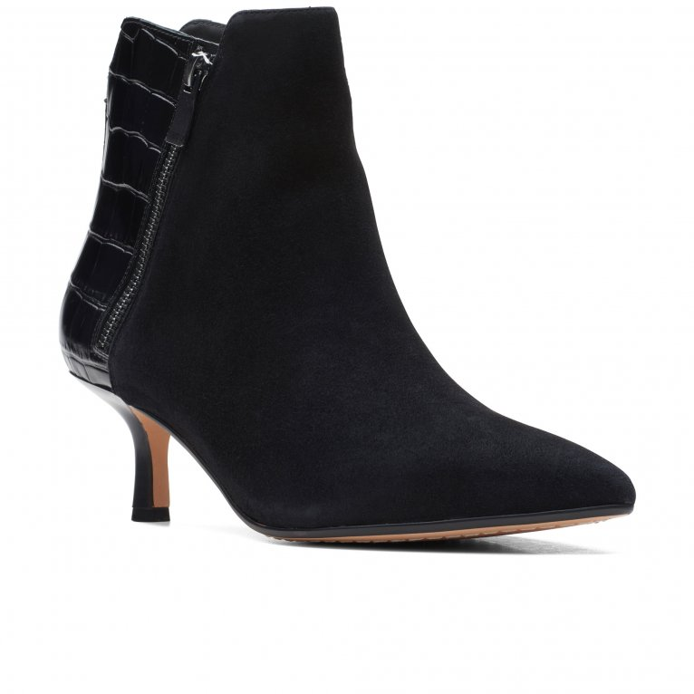Clarks Violet55 Zip Womens Ankle Boots