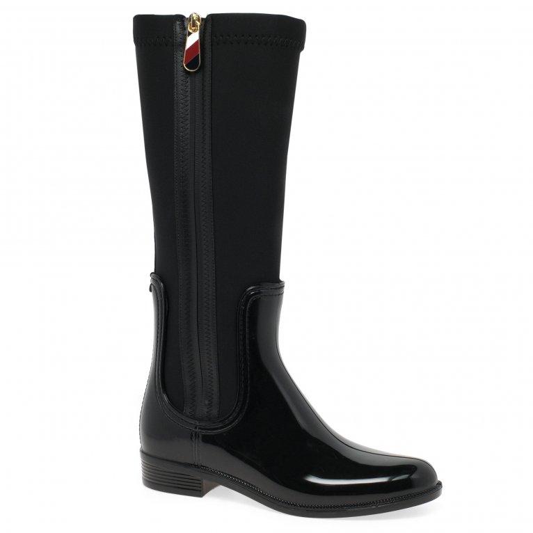 Tommy Hilfiger Zipper Long Womens Rainboots