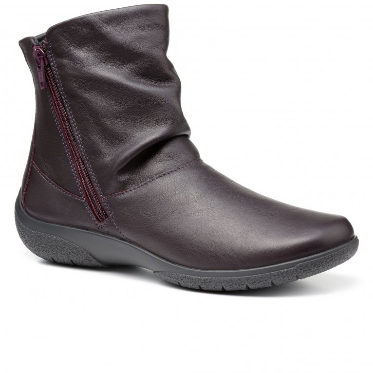 Hotter Whisper Womens Leather Wide Fit Ankle Boots