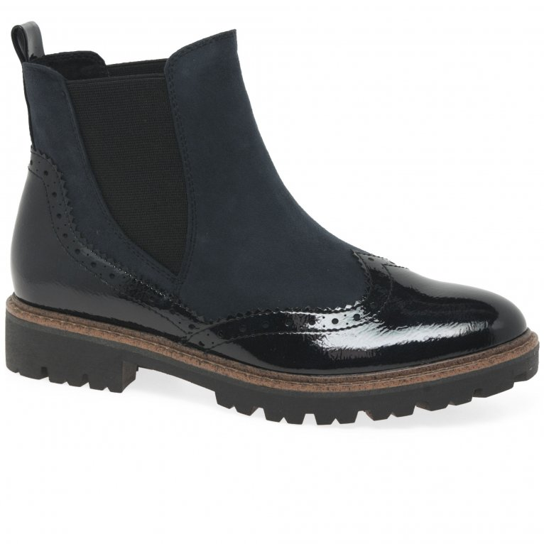 Marco Tozzi Judibell Womens Wing Tip Chelsea Boots