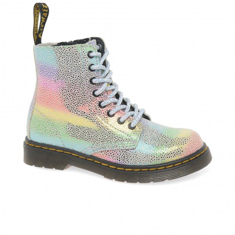 Dr. Martens 1460 Rainbow Kidray Girls Junior Boots