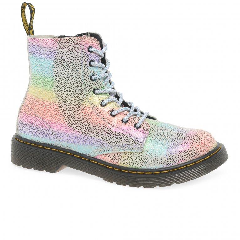 Dr. Martens 1460 Rainbow Kidray Girls Senior Boots