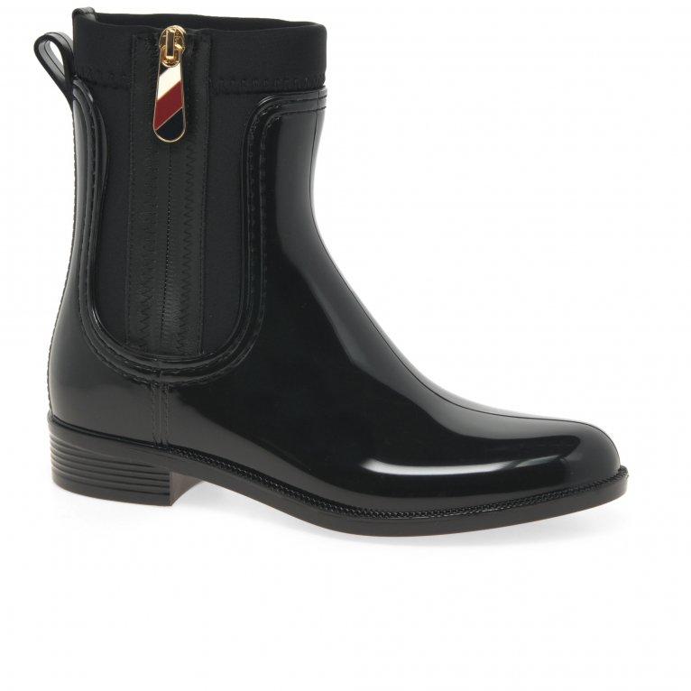 Tommy Hilfiger Corporate Zipper Womens Rainboots