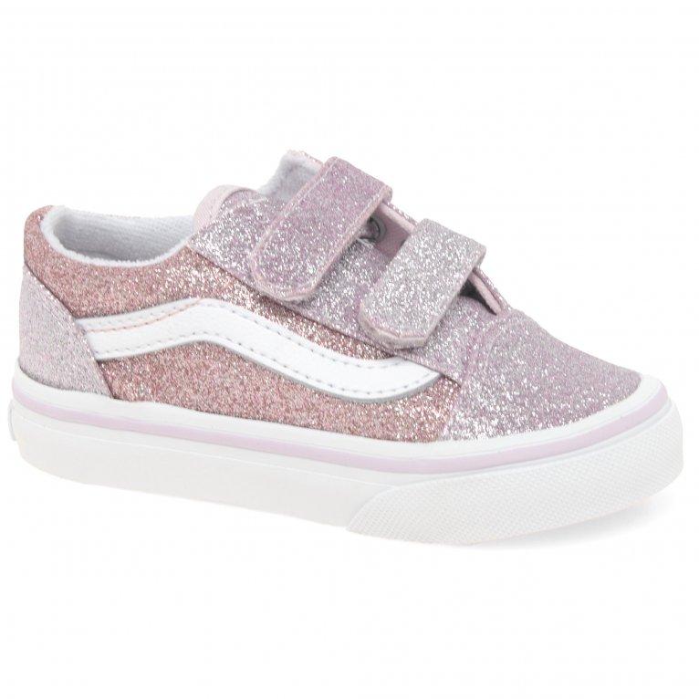 Vans Old Skool V Girls Toddler Canvas Shoes
