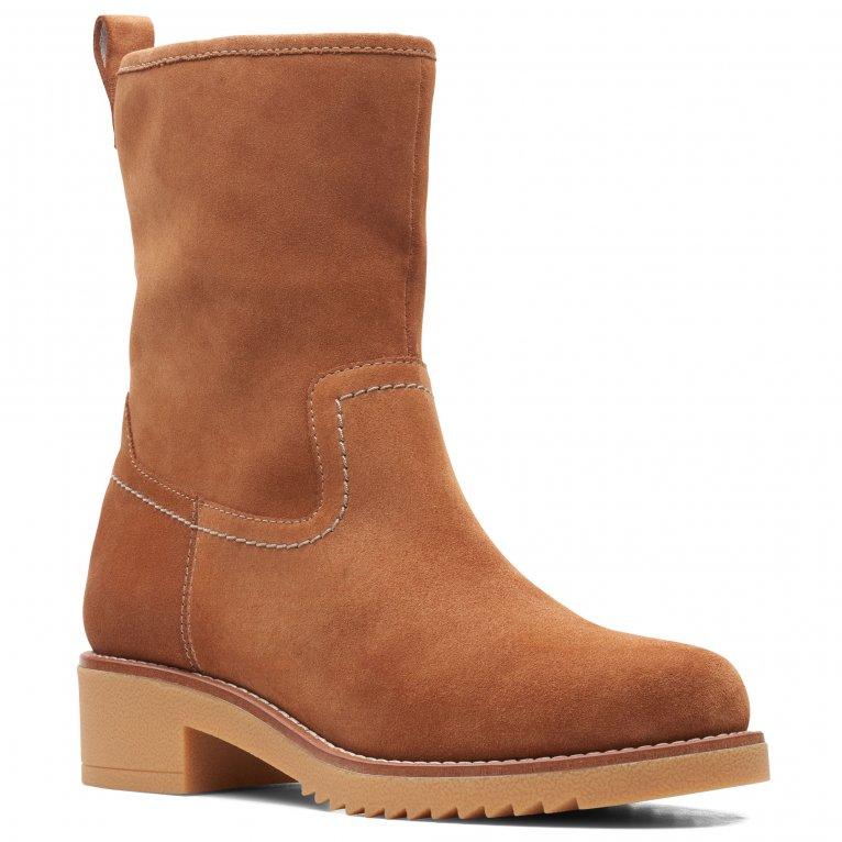 Clarks Eden Mid Hi Womens Calf Boots