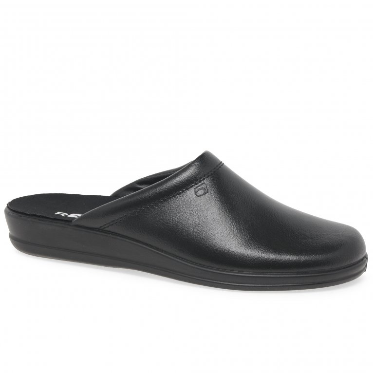 Rohde Mule Leather Slip On Mens Slippers