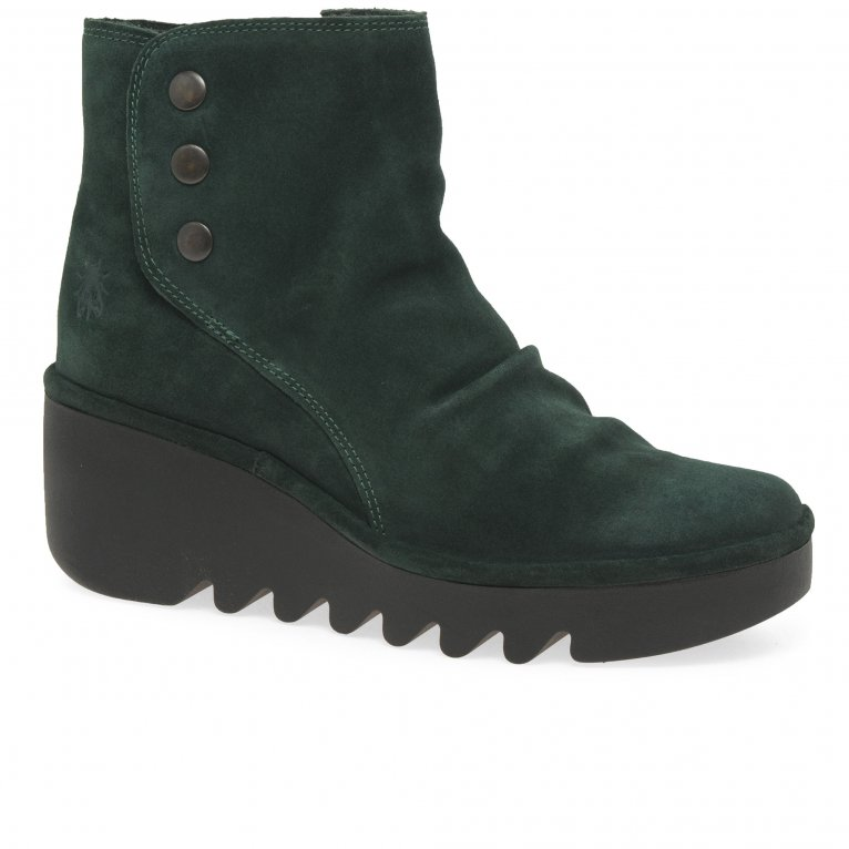 Fly London Brom Womens Wedge Heel Ankle Boots