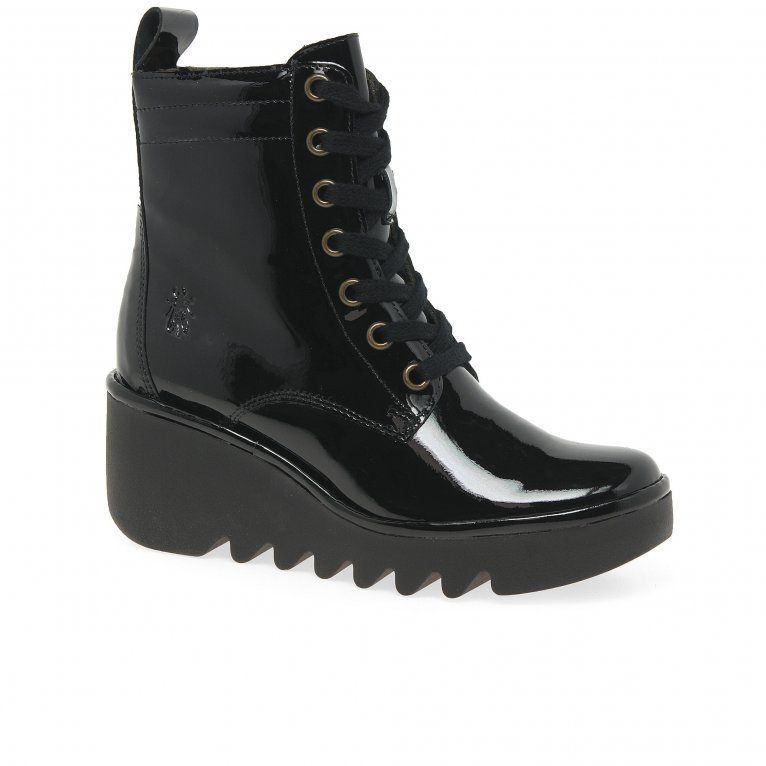 Fly London Biaz Womens Wedge Heel Ankle Boots