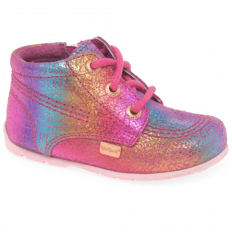 Kickers Baby Hi B Zip Girls First Boots
