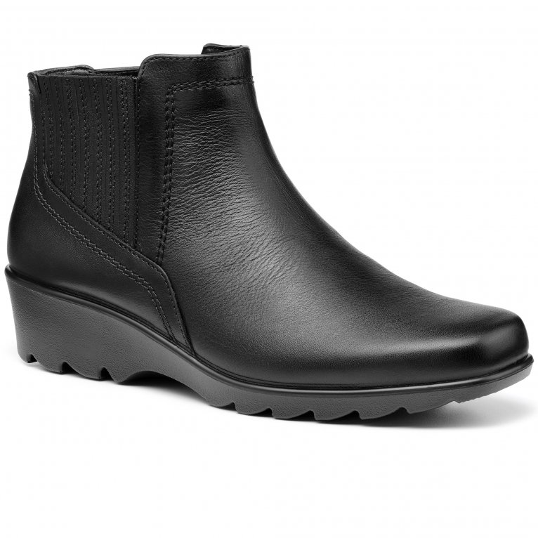 Hotter Eltham II Womens Wide Fit Wedge Boots