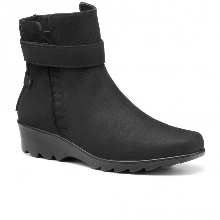 Hotter Waltham Womens Wide Wedge Ankle Boots