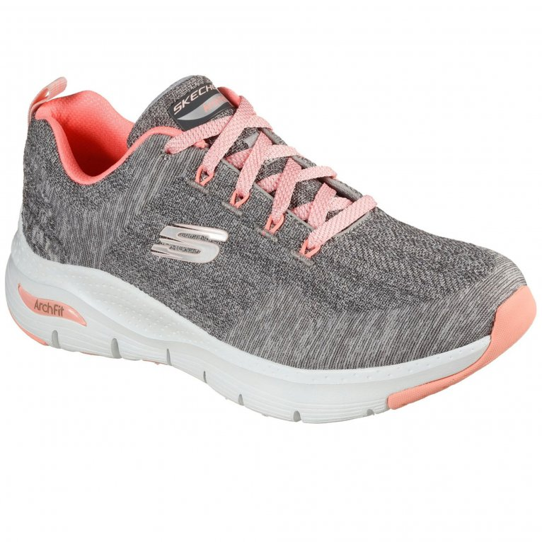 Skechers Arch Fit Comfy Wave Womens Wide Fit Trainers