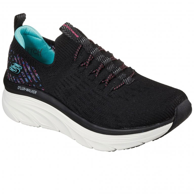 Skechers Relaxed Fit D'Lux Walker Star Stunner Womens Trainers