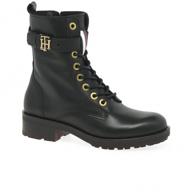 Tommy Hilfiger Essentials Womens Biker Boots