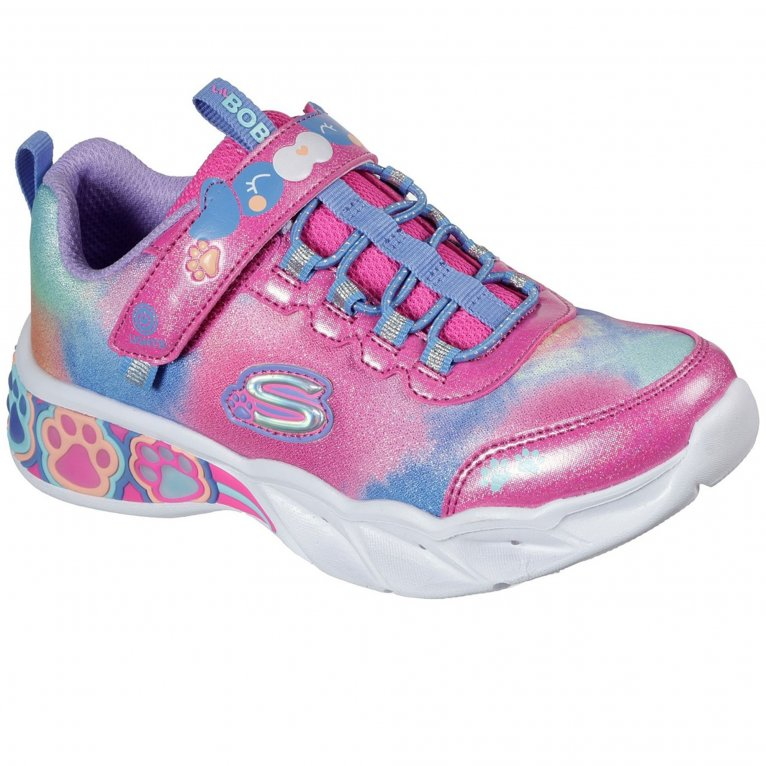 Skechers Lil Bobs Pretty Paws Girls Trainers