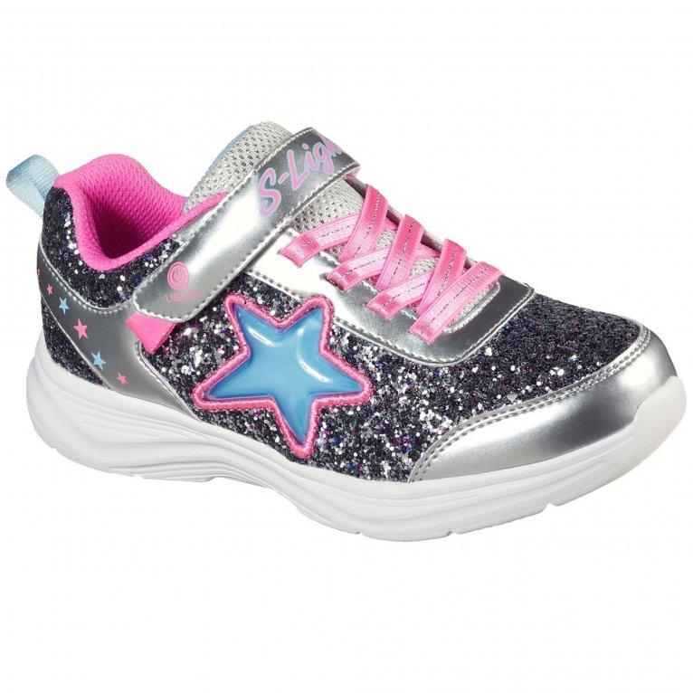 Skechers S Lights Glimmer Kicks Starlet Shine Girls Trainers