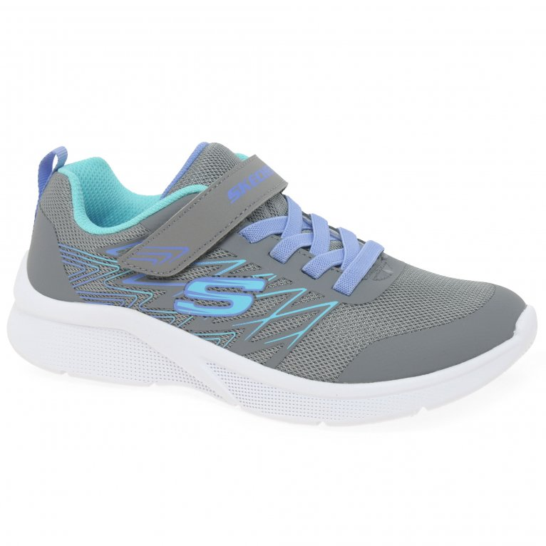 Skechers Microspec Bold Delight Girls Youth Trainers