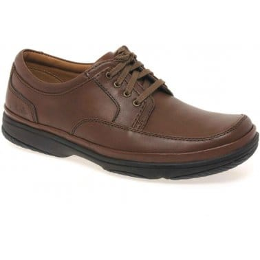 Swift Mile Mens Casual Brown Lace-Up Shoes