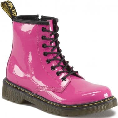 Core Junior Girls Lace Up Pink Boots