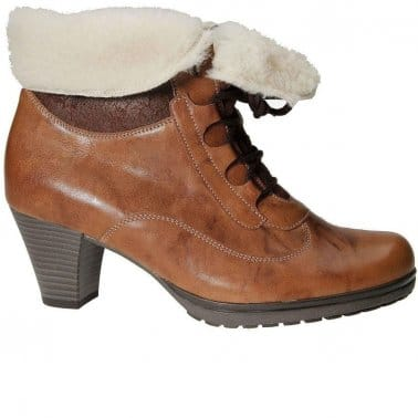 Cosmic Womens Leather Lace Up Boots