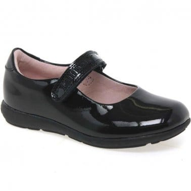 Classic Girls Velcro Fastening School Shoes