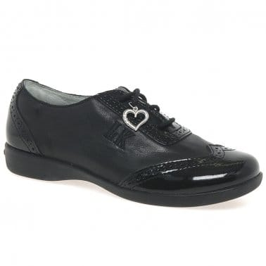 Kimberley Lace Girls Brogue School Shoes