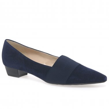 Lagos Low Heel Suede Court Shoes