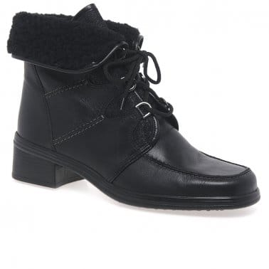 Rayce Womens Warm Lined Leather Ankle Boots