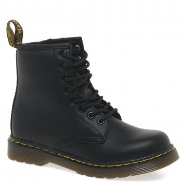 Delaney Kids Black Softy T Leather Boots