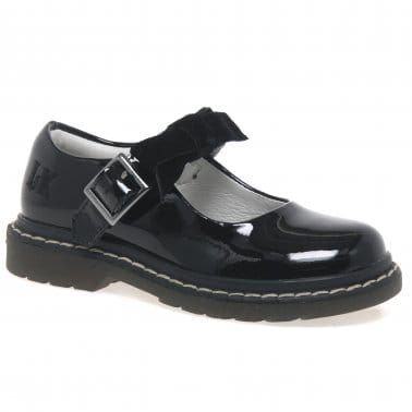 Frankie Girls Black Patent Mary Jane Shoes
