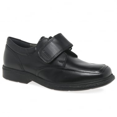 Junior Federico Boys Leather Riptape School Shoes