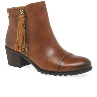 Dorra Womens Tasselled Ankle Boots