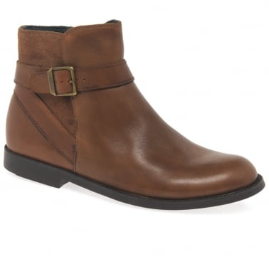 Imogen Girls Tan Leather Boots
