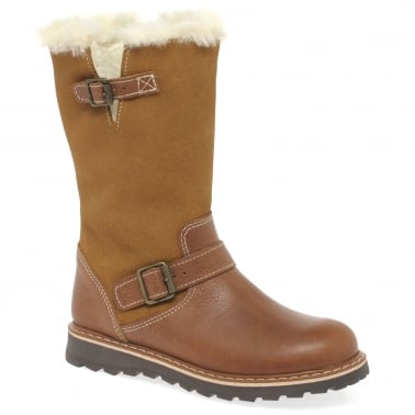 Lucca Girls Tall Tan Boots