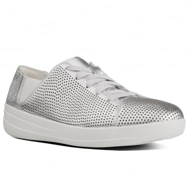 F-Sporty Womens Metallic Lace Up Trainers