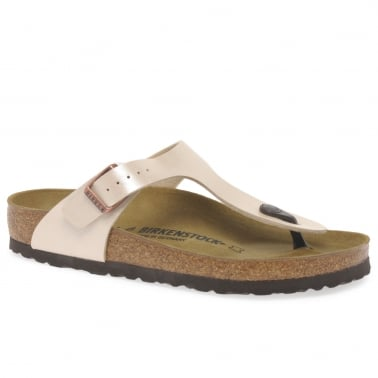 Gizeh Womens White Toe Post Sandals