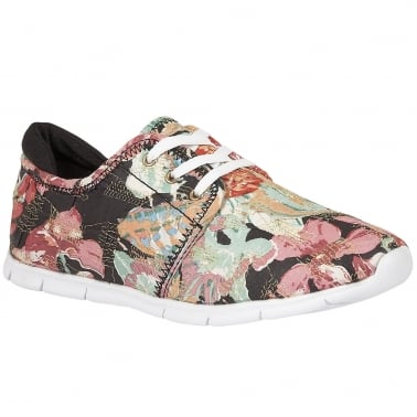 Meadow Womens Floral Trainers