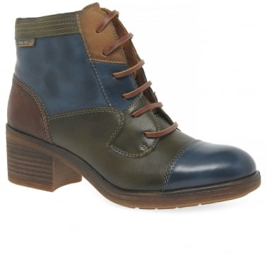 Paris Womens Leather Ankle Boots